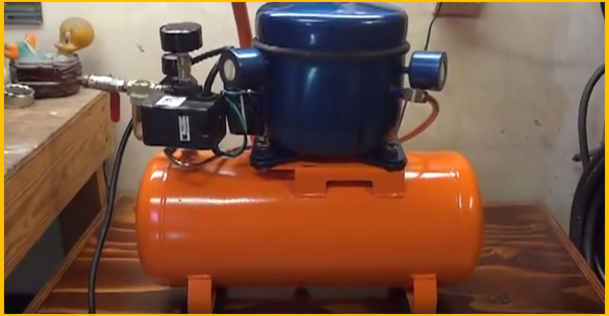 Video Diy Silent Air Compressor From Broken One To
