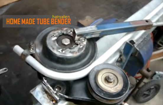 Video Diy Handy Tool Tube Bender From Belt Pulleys And