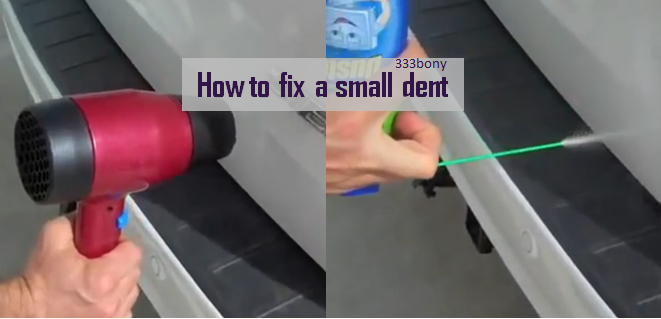 video fixing a small dent in your car paintless dent using only a hair dryer and a duster. Black Bedroom Furniture Sets. Home Design Ideas