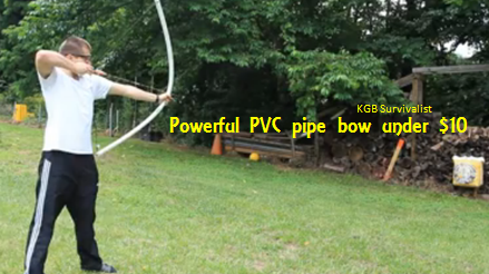 how to make a hunting bow out of pvc pipe