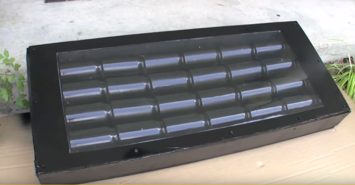 Video diy window unit solar can heater keep a room nice for Window heater