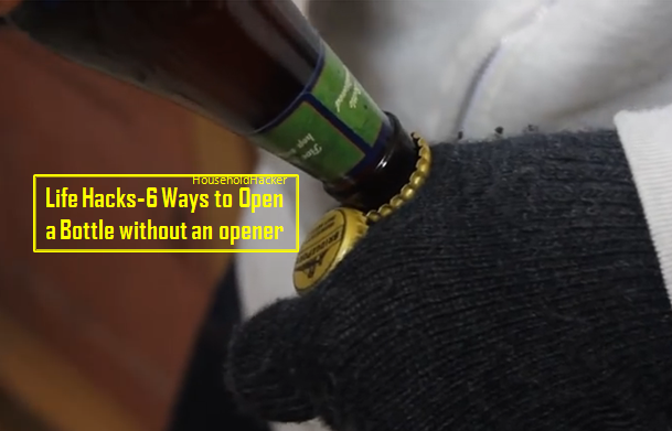 video six ways to open bottles without an opener page 2 of 2 brilliant diy. Black Bedroom Furniture Sets. Home Design Ideas