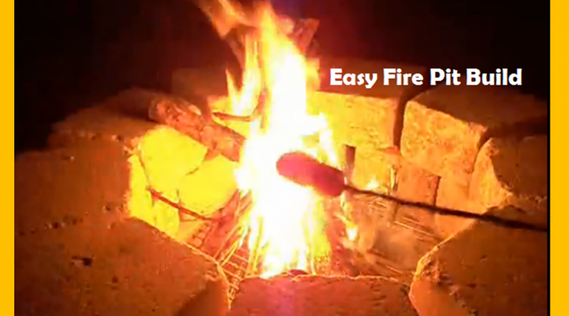 Video buy materials from local hardware store and diy for Materials needed to build a fire pit