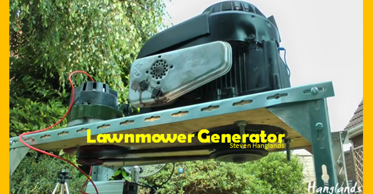 Video Homemade Generator From A Lawnmower Engine