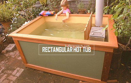 Homemade Rectangular Hot Tub. Build With An Easy Plan ...