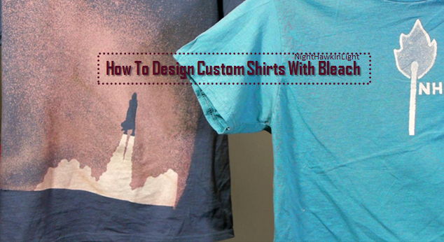 video customized shirts using bleach design your own t