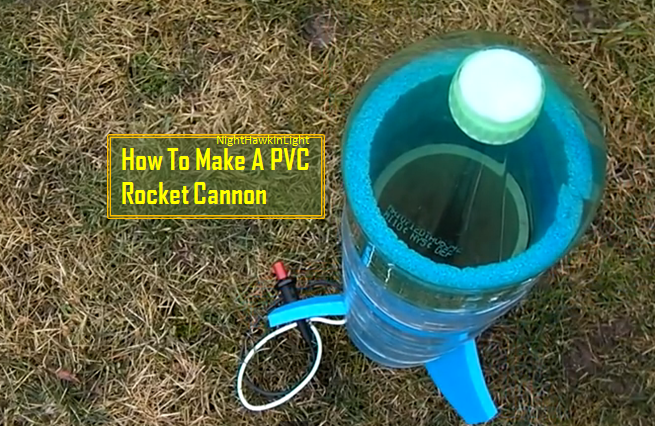 video diy a rocket cannon made from pvc and can be