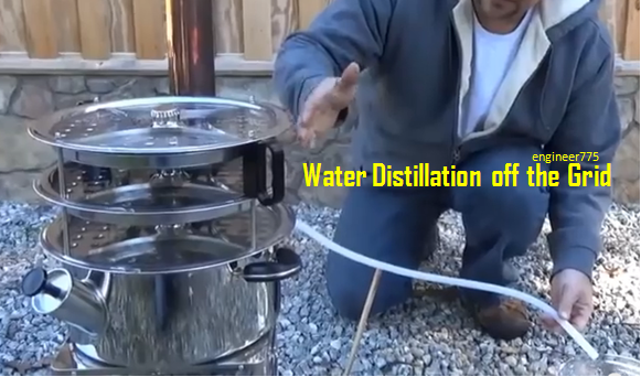 Make A Water Distiller ~ Video water distillation off the grid it can purify up