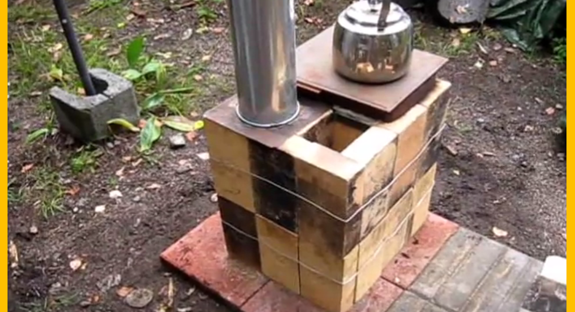 Video brilliant diy your own brick box rocket stove for How to make a rocket stove with bricks