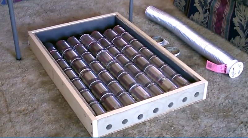 Diy Soup Can Solar Air Heater It Can Produce A Surprisingly Strong