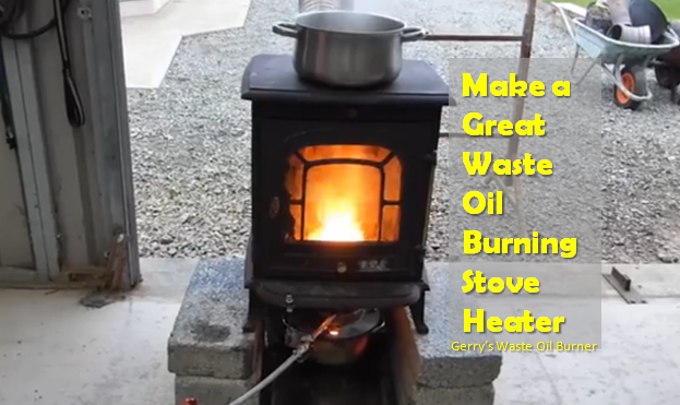 Video how to diy make a stove heater that basically for Heater that burns used motor oil