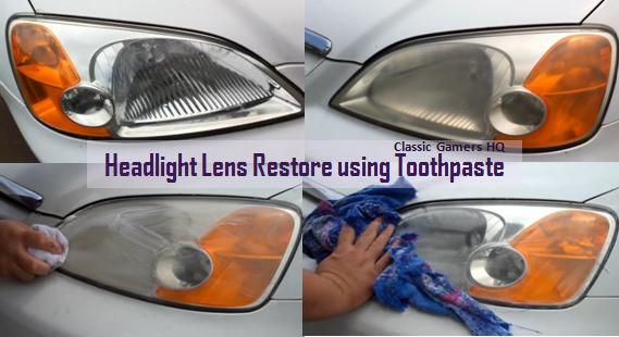 Headlight_Lens_Restore_using_Toothpaste