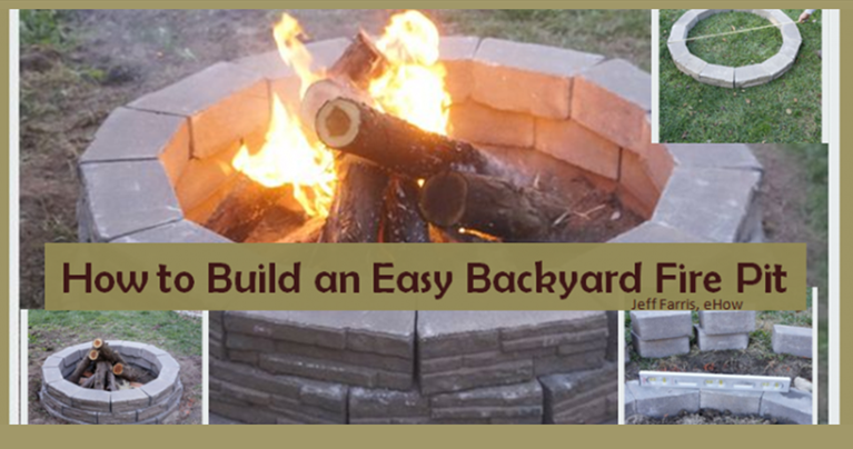 Build an easy backyard fire pit and enjoy a cozy place for Easy way to build a fire pit