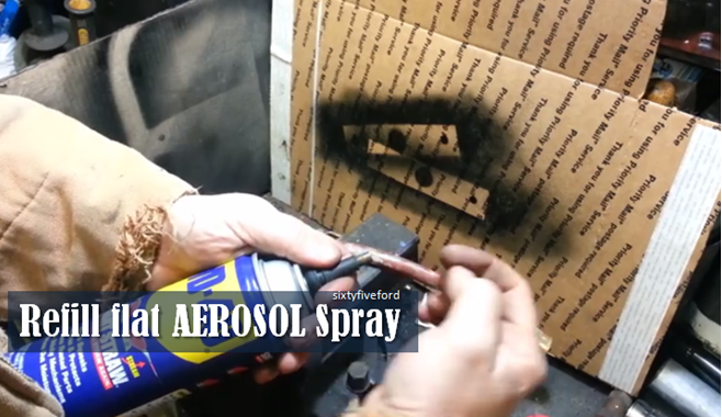 video how to refill aerosol spray paint can brilliant diy. Black Bedroom Furniture Sets. Home Design Ideas