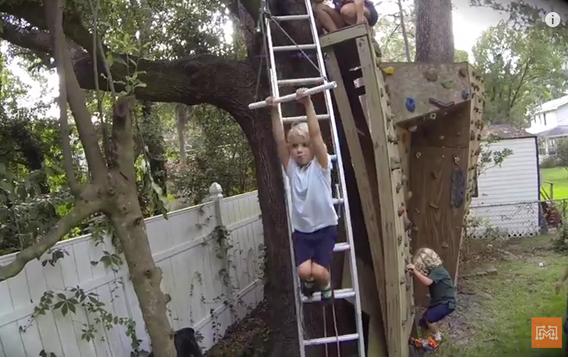 Video DIY Backyard Zip Line. Turn Your Backyard Into An ...