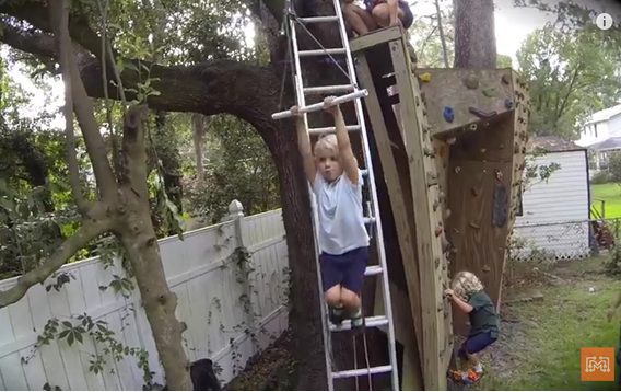 Merveilleux [Video] DIY Backyard Zip Line. Turn Your Backyard Into An Amusement Park!    BRILLIANT DIY