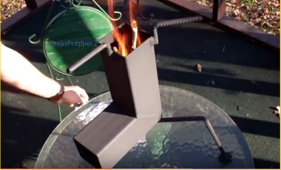 Video build your own 10 buck rocket stove an efficient for Make a rocket stove