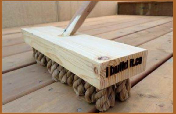 building a diy heavy duty deck broom using simple and inexpensive materials brilliant diy. Black Bedroom Furniture Sets. Home Design Ideas
