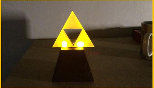 [Video] Make This Beautiful DIY Glowing LED Triforce Lamp ...