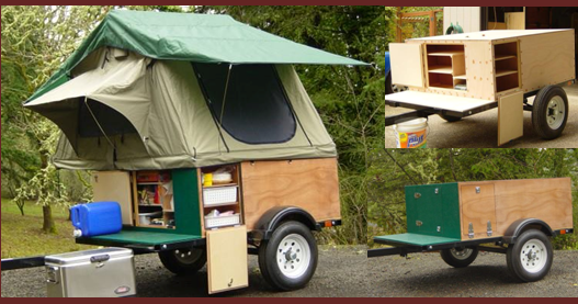 Home Built Tent Topped Camping Trailers