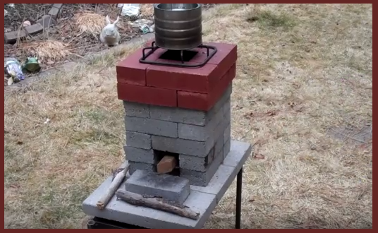 Video improving your basic brick rocket stove for How to make a rocket stove with bricks