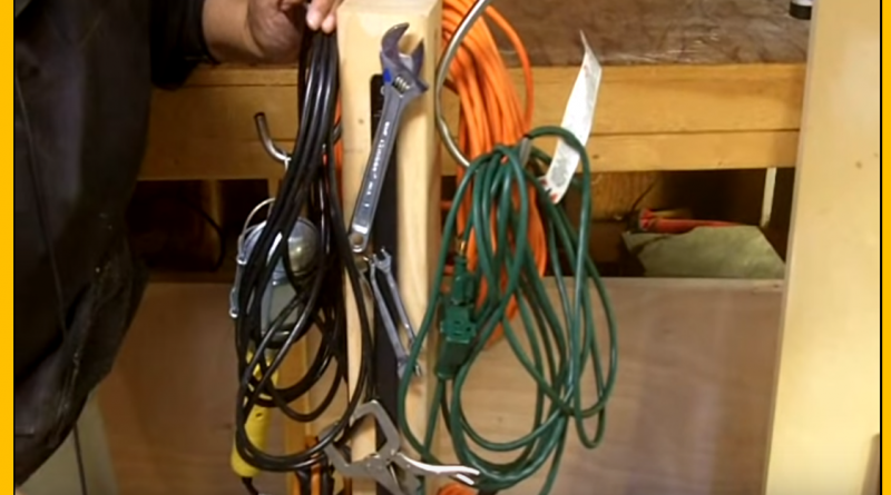 Video how to make an extension cord organizer caddy Extension cable organizer