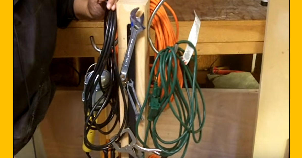 Video How To Make An Extension Cord Organizer Caddy