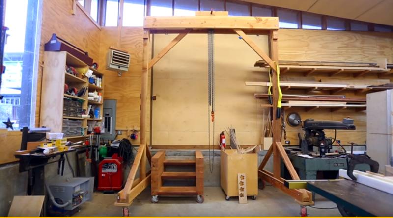 Build A Wooden Gantry Crane Brilliant Diy