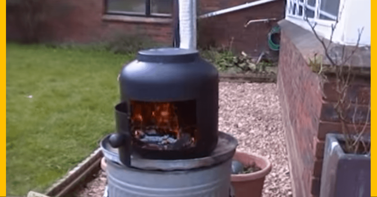 Video Make A Diy Pot Belly Stove Out Of Disposable