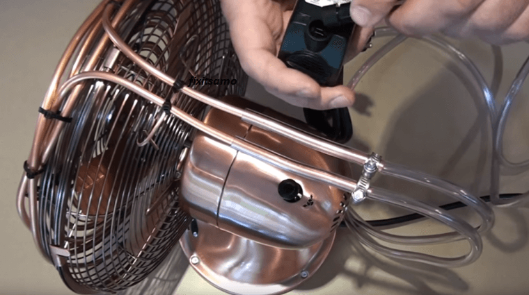 how to make a fan into an air conditioner