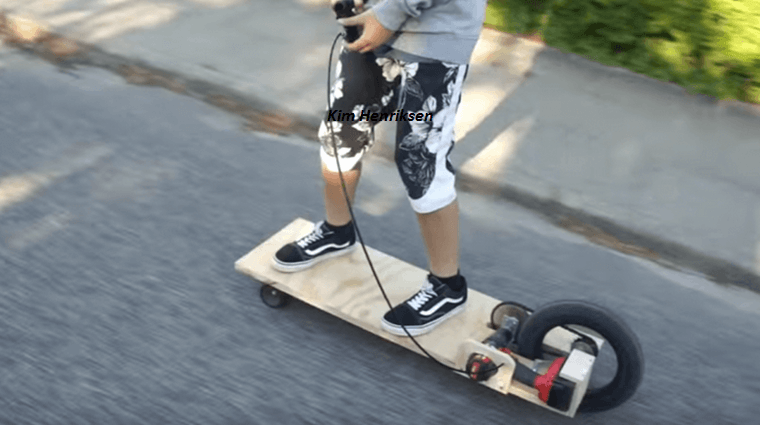 Ride In Style With This Homemade Electric Longboard