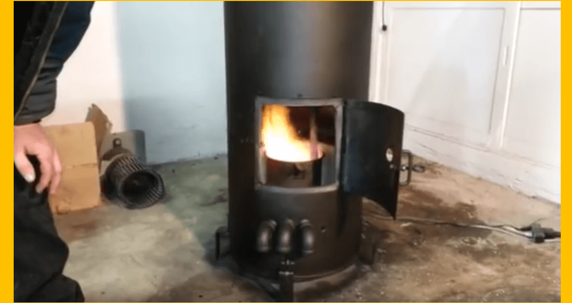 Video make your own waste oil heater with electric water Burning used motor oil for heat