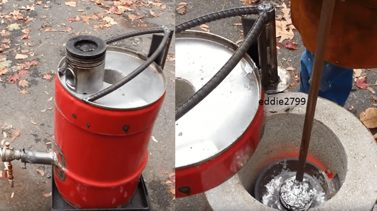 homemade_metal_foundry_furnace_melting_aluminium_from_aluminum_pistons