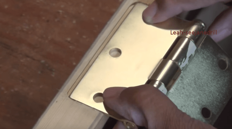 how to cut notches for door hinges