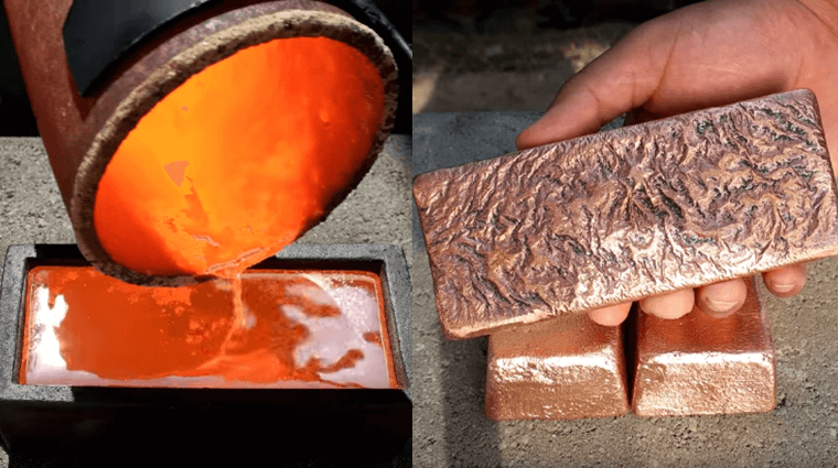 making_5_pound_copper_ingots_from_scrap