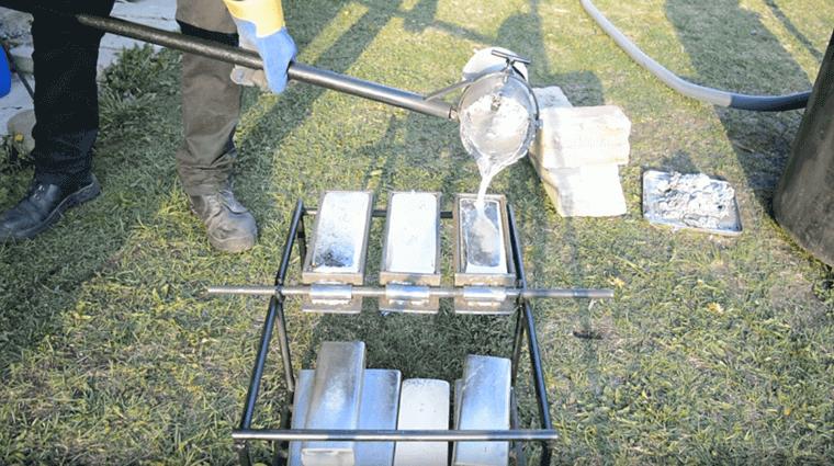 melting_scrap_aluminum_into_ingots