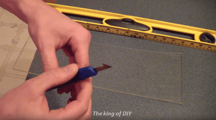 how to cut glass easily