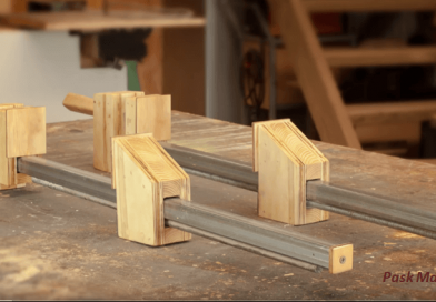 [Video] Homemade Wood Bar Clamps Made Easy.
