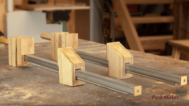Homemade Wood Bar Clamps Made Easy Brilliant Diy