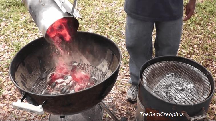 weber chimney starter how to use