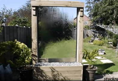 [Video] Building A Glass Waterfall. A Nice Gathering Spot For Family And Friends.