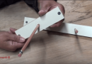 [Video]This Homemade Simple Tool Is All You Need To Mark The Center Of A Wooden Plank.