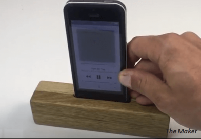 [Video] Make Your Own Travel Pocket Size Wooden Amplifier.