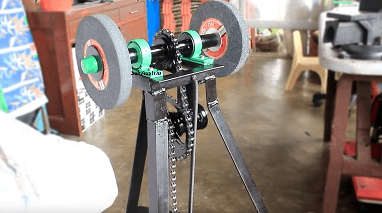 Homemade Pedal Powered Bench Grinder Archives Brilliant Diy