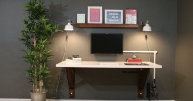 [Video] Build Your Own Wall Mounted Desk With Everyday Garage Materials.
