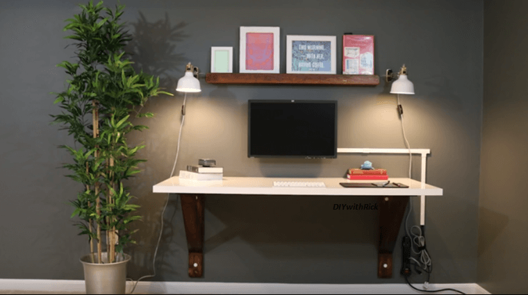 Video build your own wall mounted desk with everyday for Build your own wall mounted desk