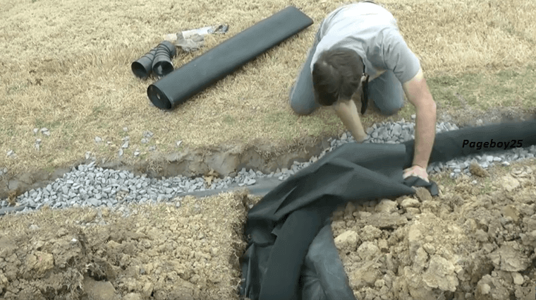 Diy Building A 200 Ft French Drain A 15 Minute Instruction