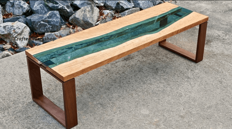 Make your own greg klassen inspired live edge river coffee for Make your own end table