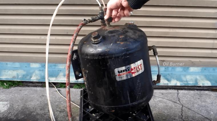 How To Make Your Own Spray Oil Burner Using Regular Fittings.