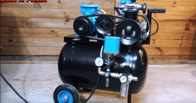 Turn Old Car Parts Into A DIY Air Compressor.